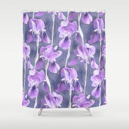 Simple Iris Pattern in Pastel Purple Shower Curtain