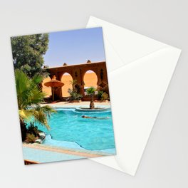 Resort at the Middle of the Desert Stationery Cards
