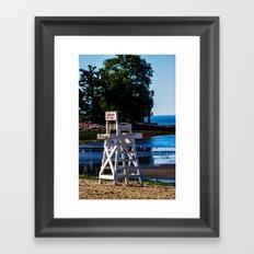 Life guard off duty - enjoy the beach Framed Art Print