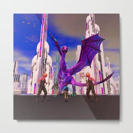 AC!D DREAMZ: Fighting the Dragon Metal Print