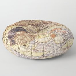 Ratty and Mole have a picnic wind in the willows Floor Pillow