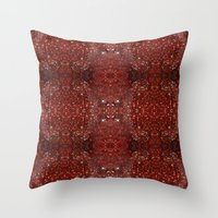 ruby Throw Pillows featuring Ruby by Katherine Farah