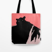 beast Tote Bags featuring beast by jenapaul