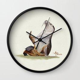 Sea Lion Watercolor Wall Clock