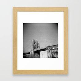 Brooklyn Bridge 03, Holga Framed Art Print