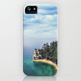 Miners Castle rock formation iPhone Case