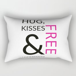 Free Hug and Kisses Rectangular Pillow