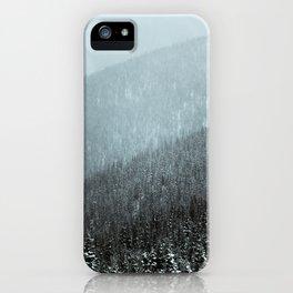 Snowy Mountain Hillsides iPhone Case