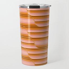 Geo Stripes - Butterscotch Travel Mug