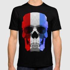 Polygon Heroes - The Patriot Skull Mens Fitted Tee MEDIUM Black