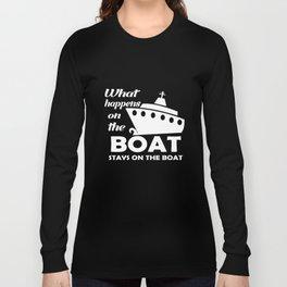Boating T-Shirt Funny Boat Shirts Sailing Apparel Long Sleeve T-shirt