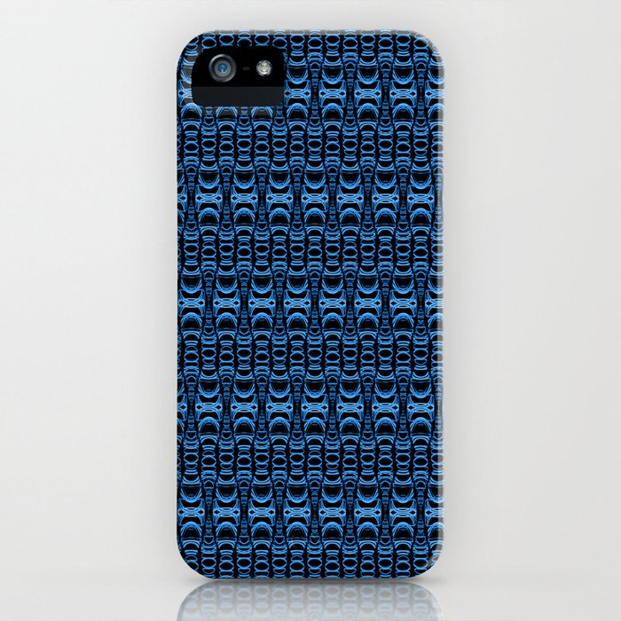 Dividers 07 in Blue over Black iPhone Case
