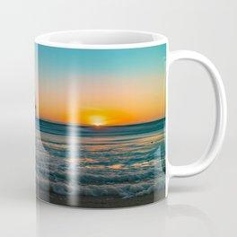 Sunset Foam at Newport Pier Coffee Mug