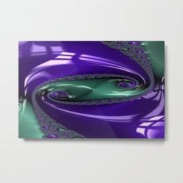 Enamored Selenium Fractal 12 Metal Print