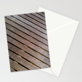 Wood Lines on the ground Stationery Cards