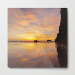 The Cliff At Moonstone Metal Print
