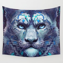 Snow Leopard Late Night Wall Tapestry