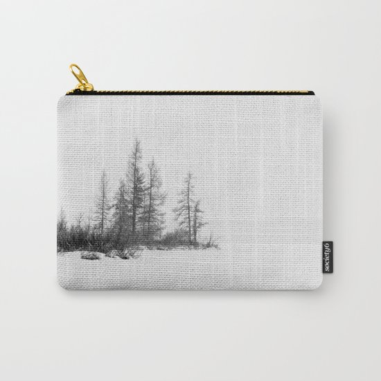 trees on white Carry-All Pouch