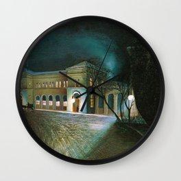 Around Midnight (Budapest East Station) by Tivadar Csontvary-Kosztka Wall Clock