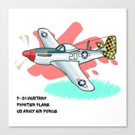 Mustang Fighter Graffiti Canvas Print