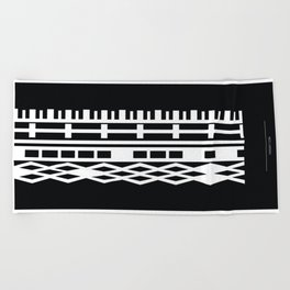 The DNA of colours - White Beach Towel
