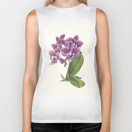 Purple Phalaenopsis Orchid Biker Tank