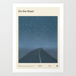 "Jack Kerouac ""On the Road"" - Minimalist literary art design, bookish gift Art Print"