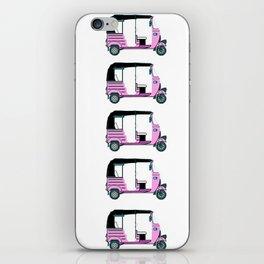 Pink tuktuk, fun design iPhone Skin