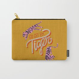 Go Get 'Em Tiger – Yellow Palette Carry-All Pouch