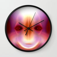 captain swan Wall Clocks featuring CAPTAIN by Ricardo Alves