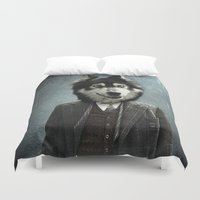 alex turner Duvet Covers featuring Alex by ppatphoto