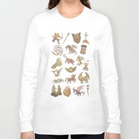 constellations Long Sleeve T-shirts featuring 00: Constellations by mushroomtale