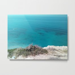 Edge Of The Turquoise Cliff Metal Print