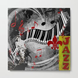 JAZZ PIANO KEYBOARD MUSIC Metal Print
