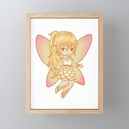 Fee camellias magic fairy tale girl gift Framed Mini Art Print
