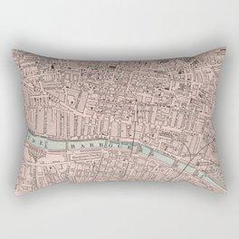 Vintage Map of Glasgow Scotland (1901) Rectangular Pillow