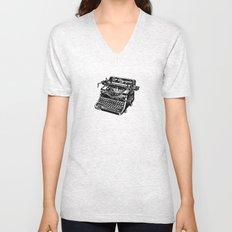 Old Typewriter Unisex V-Neck