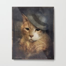 Vinnie Valentino - Ginger Cat Portrait Metal Print