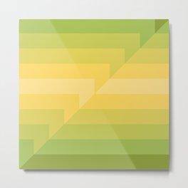 broken stripes — green Metal Print