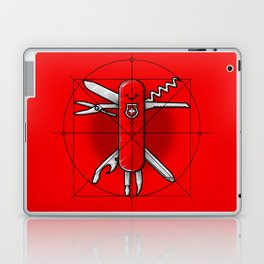 Vitruvian Swiss Knife Laptop & iPad Skin