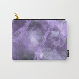 Stormy Abstract Art in Purple and Gray Carry-All Pouch