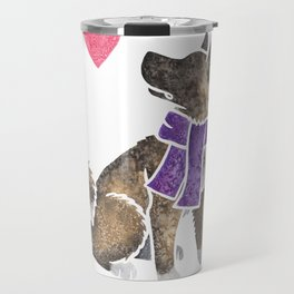 Watercolour Akita Travel Mug
