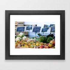 Winter Market Framed Art Print
