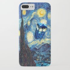 Soaring Tardis doctor who starry night iPhone 4 4s 5 5c 6, pillow case, mugs and tshirt Slim Case iPhone 7 Plus