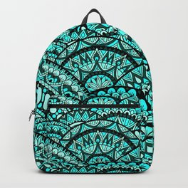 Green Wave Mandalas Backpack