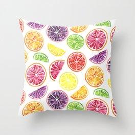 Citrus Wheels Throw Pillow