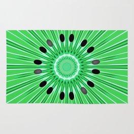 Digital art kiwi Rug