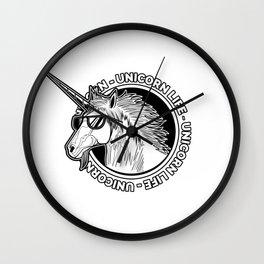 Unicorn Life Wall Clock