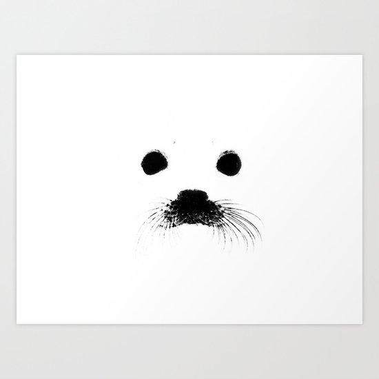 Seal your face Art Print