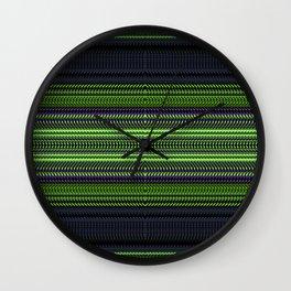 Apple Grape Rag Weave I by Chris Sparks Wall Clock